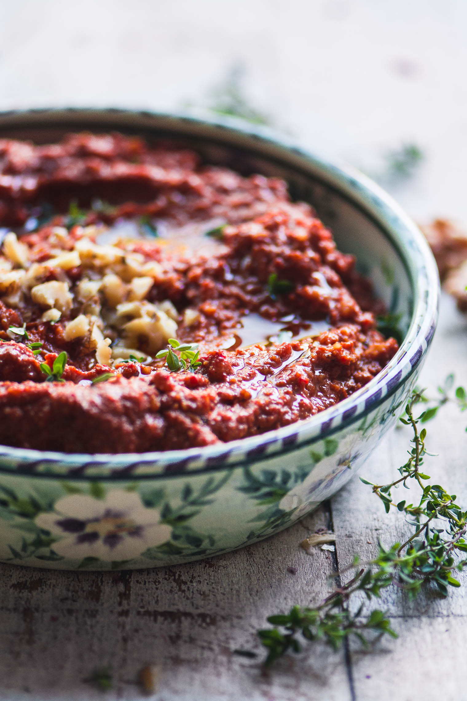 Muhammara (roasted red pepper & walnut dip) ~ Muhammara isn't quite as well known as its sisters hummus and baba ganoush, but it's equally amazing and versatile.