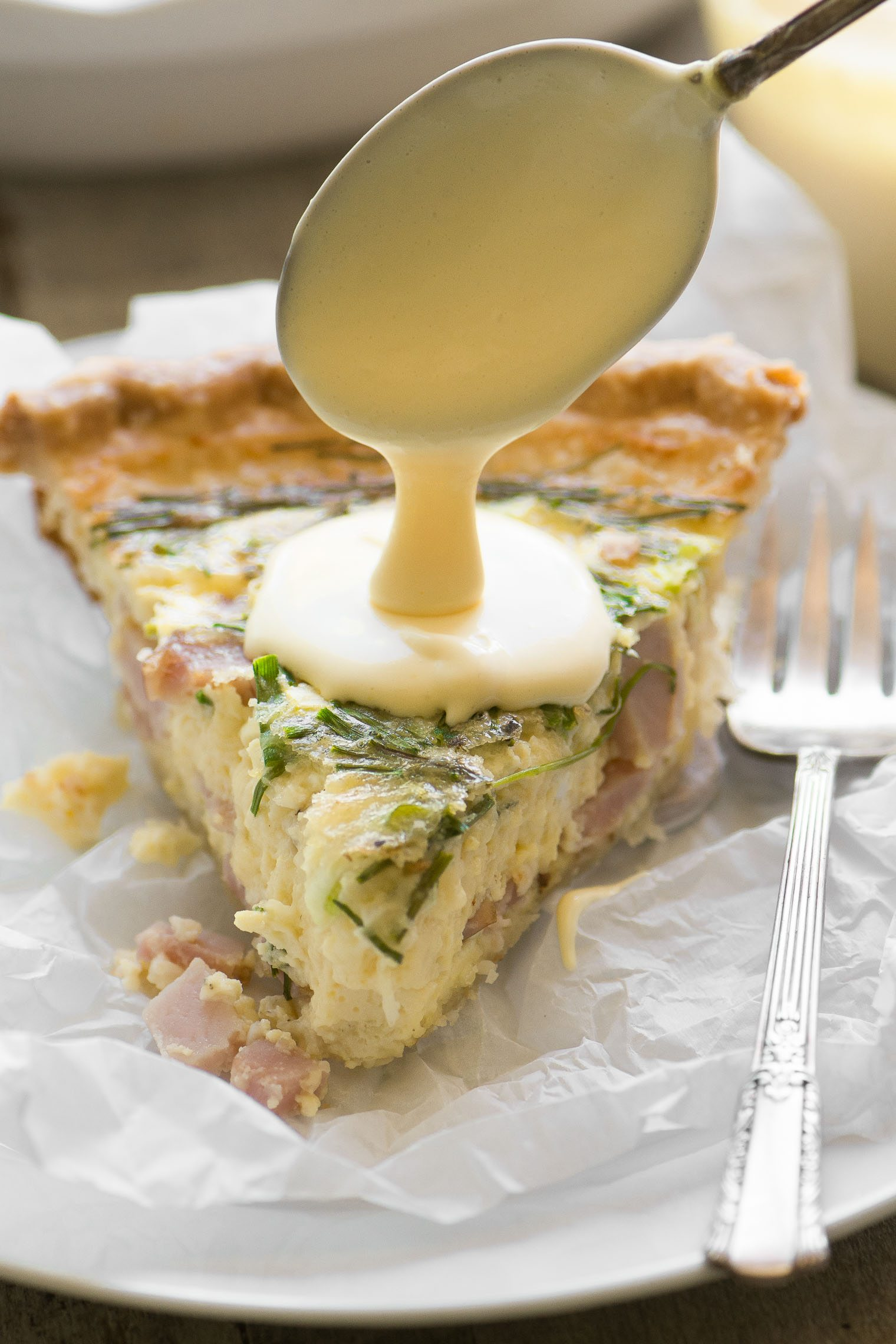 Eggs Benedict Quiche with Hollandaise Sauce 2