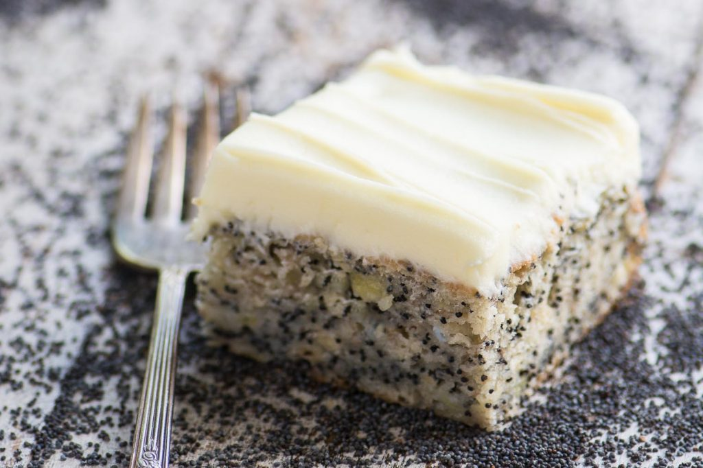 Banana Poppy Seed Cake with Lemon Buttercream