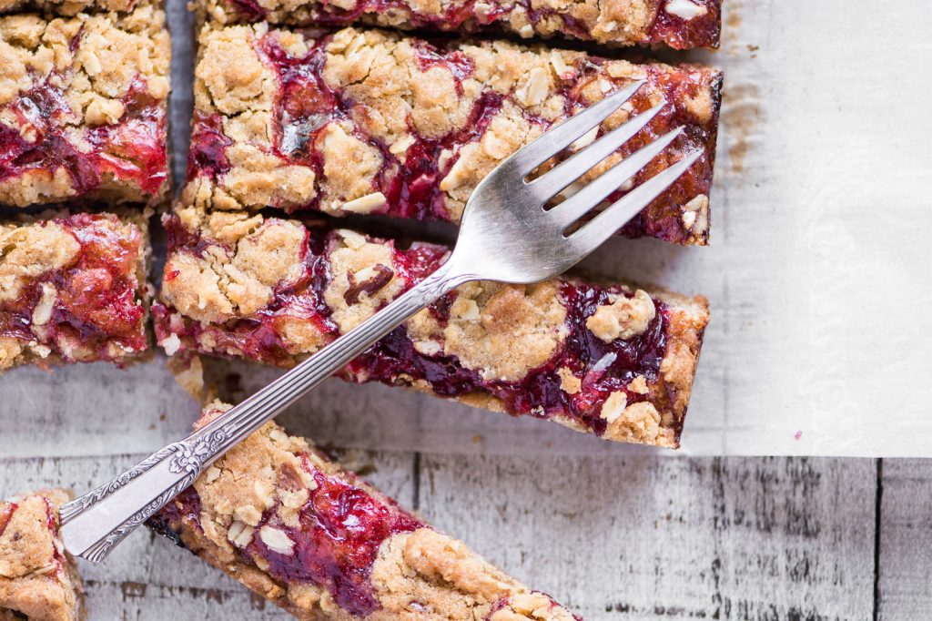 Sour Cherry Almond Bars