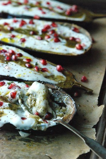 eggplant with yogurt sauce