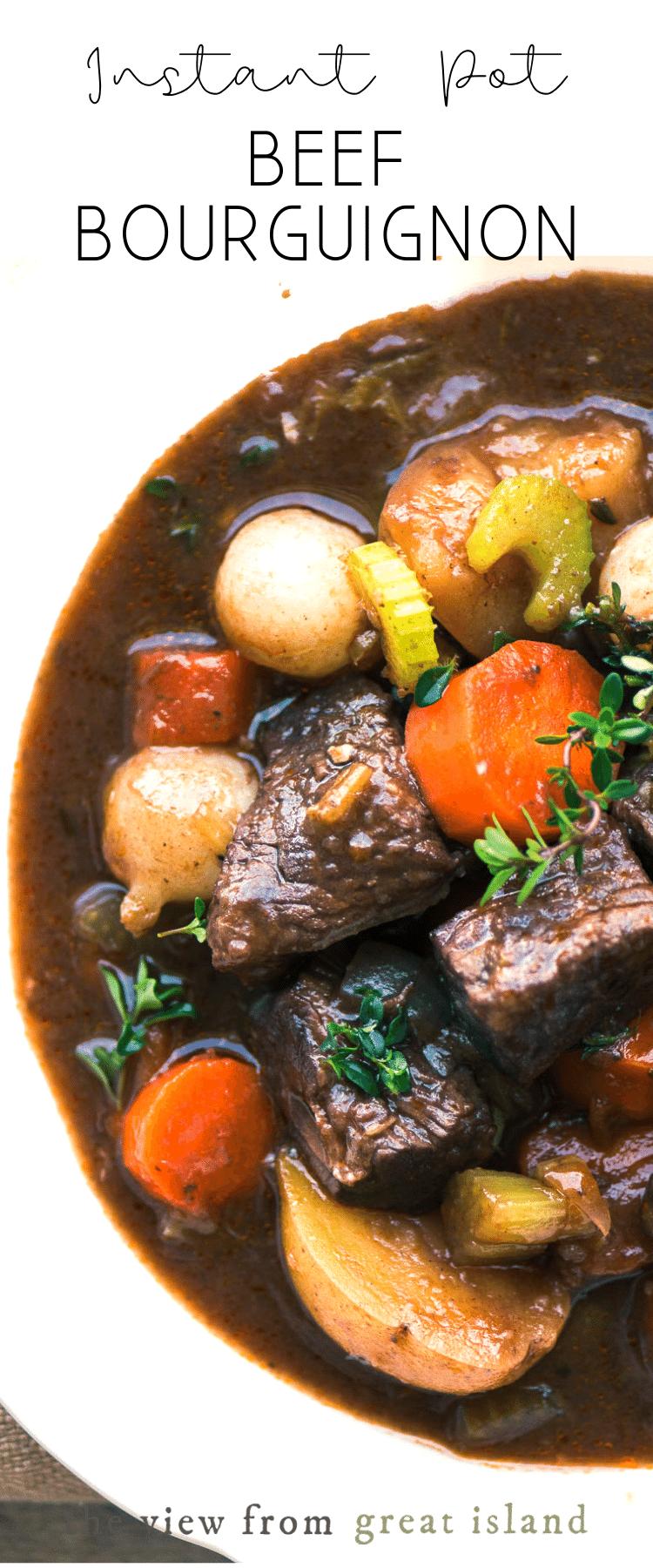 instant pot beef bourguignon pin