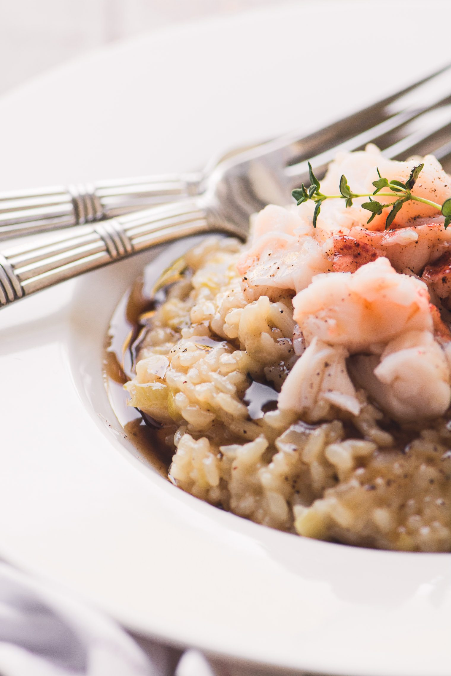 Instant Pot Lobster risotto for two