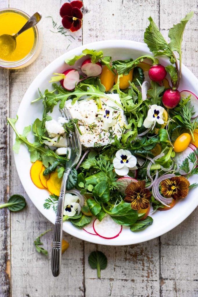 Poached Halibut Salad with Meyer Lemon Vinaigrette