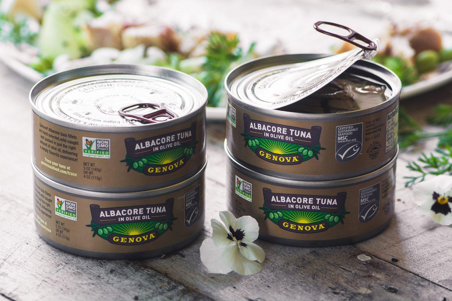 cans of Genova Tuna
