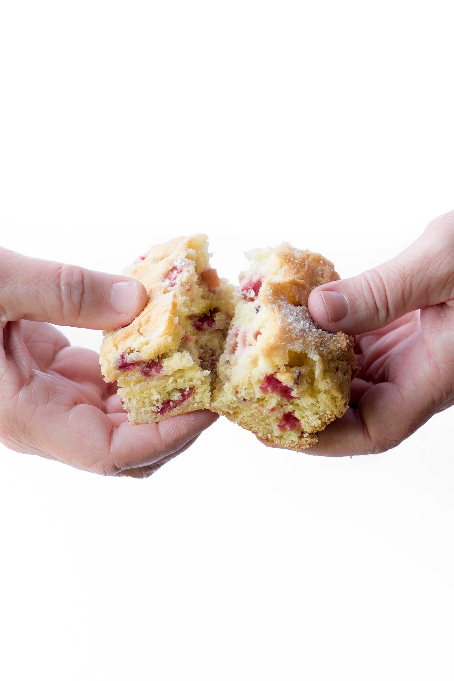 A piece of Rhubarb Breakfast Cake image