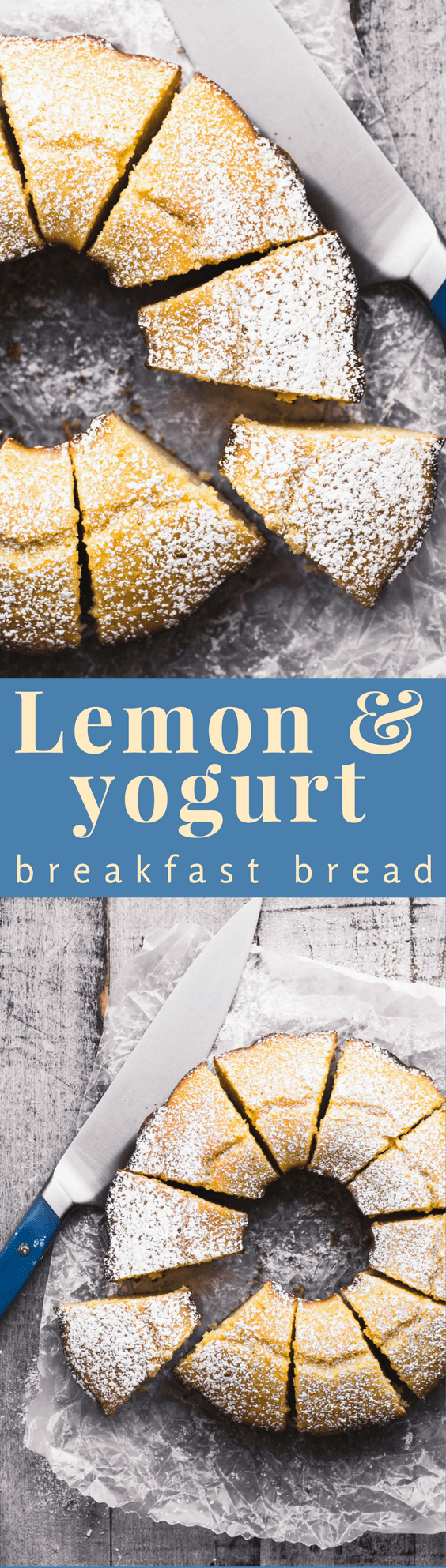 Lemon Yogurt Breakfast Cake, or Ciambella ~ this is a classic Italian style lemon bundt cake with lots of lemony flavor and a delicate crumb. Pair it with a good cup of coffee and you've got the start to a great day. #cake #lemoncake #italiancake #breakfast #coffeecake #bundtcake #dessert #teacake #afternoontea #snackcake #ciambella #ringcake #citrus #Meyerlemon #lemondessert
