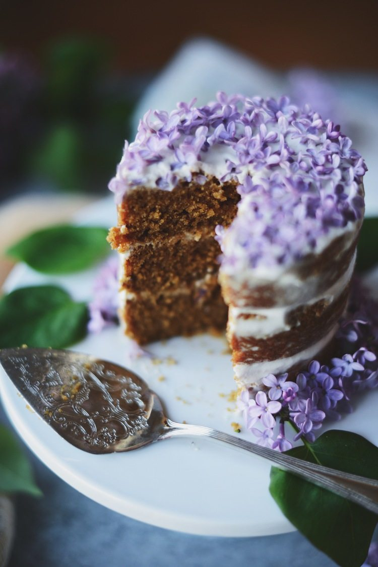 Lilac Scrub Top Cake