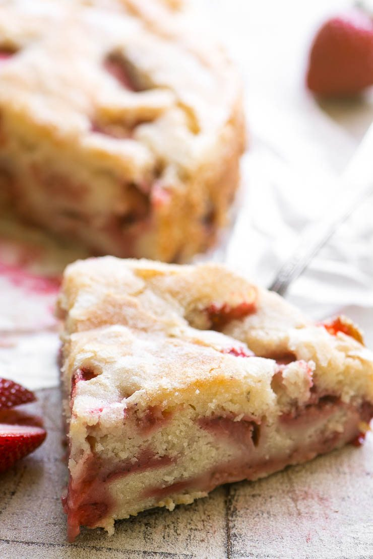 A slice of strawberry buttermilk cake 2