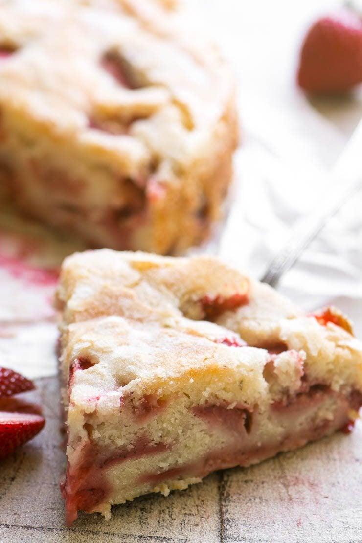 A slice of strawberry buttermilk cake 2