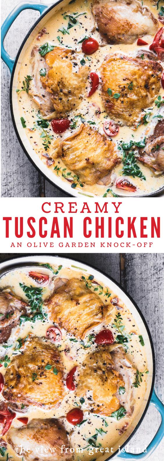 creamy tuscan chicken pin