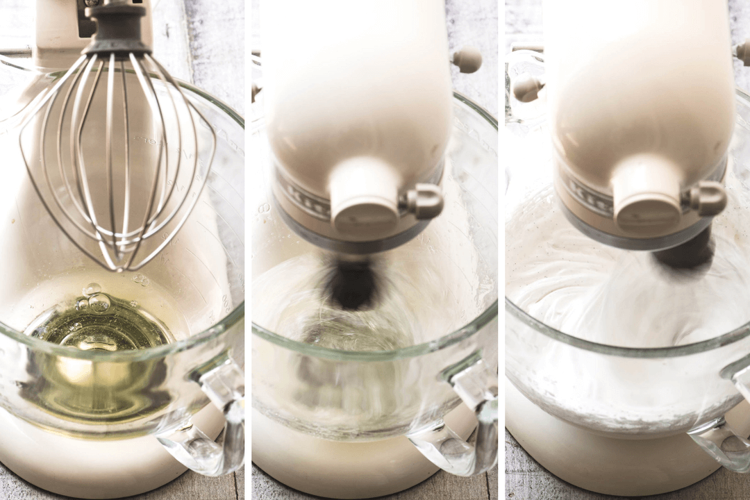 Whipping egg whites in stand mixer for Pavlovas