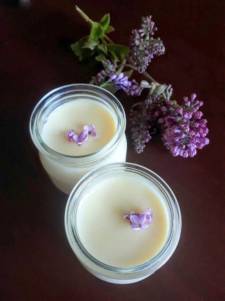 Lilac honey posset