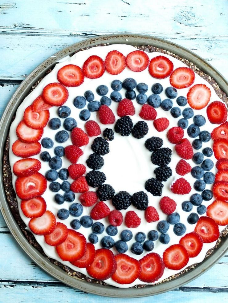 RED WHITE AND BLUE RECIPES YOU ACTUALLY WANT TO EAT! Healthy Fruit Dessert Pizza