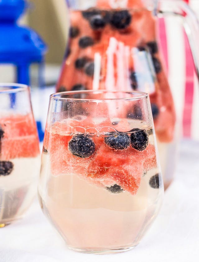 RED WHITE AND BLUE RECIPES YOU ACTUALLY WANT TO EAT! White wine sparklers