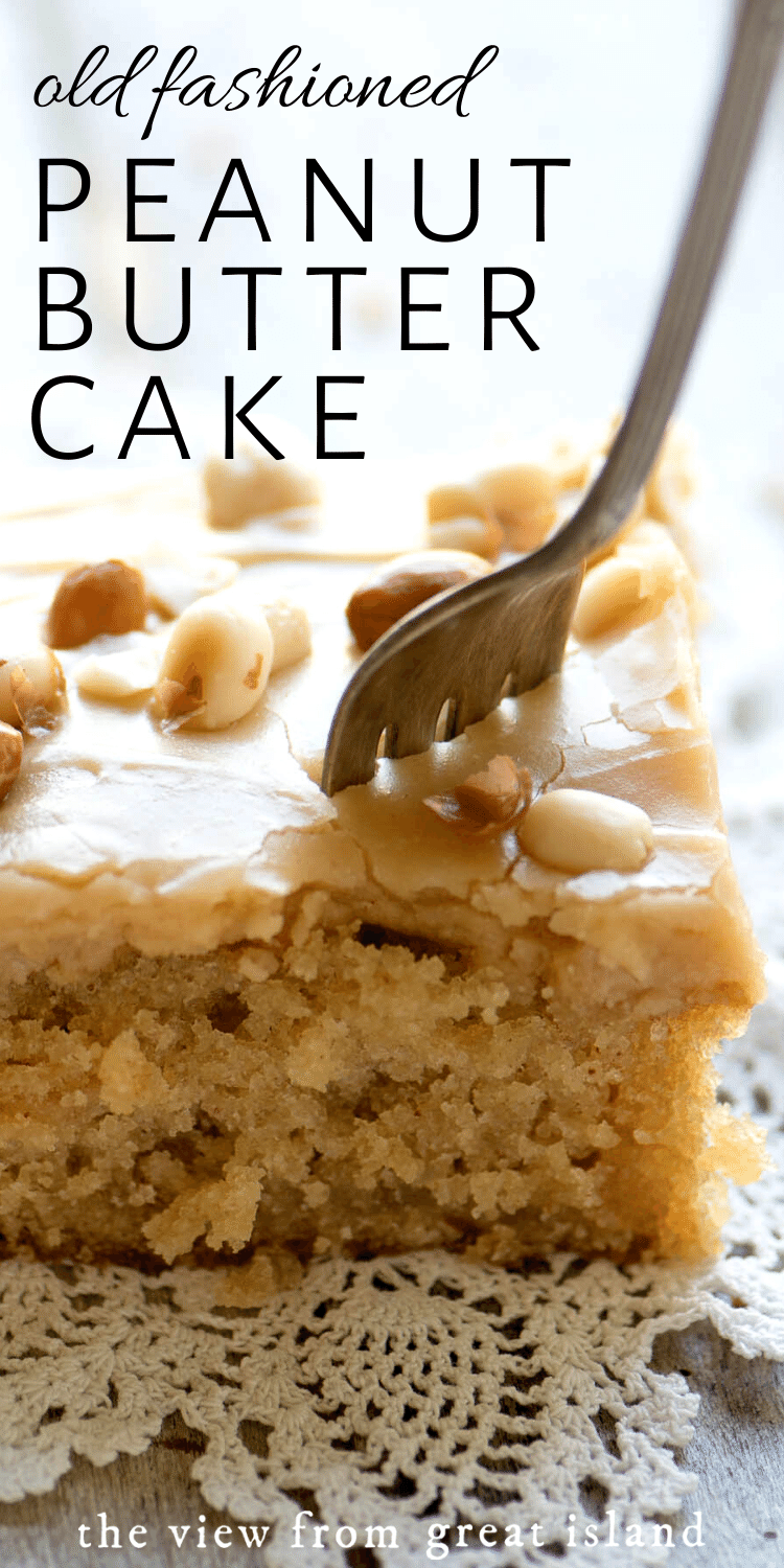 Old Fashioned Peanut Butter Cake pin.