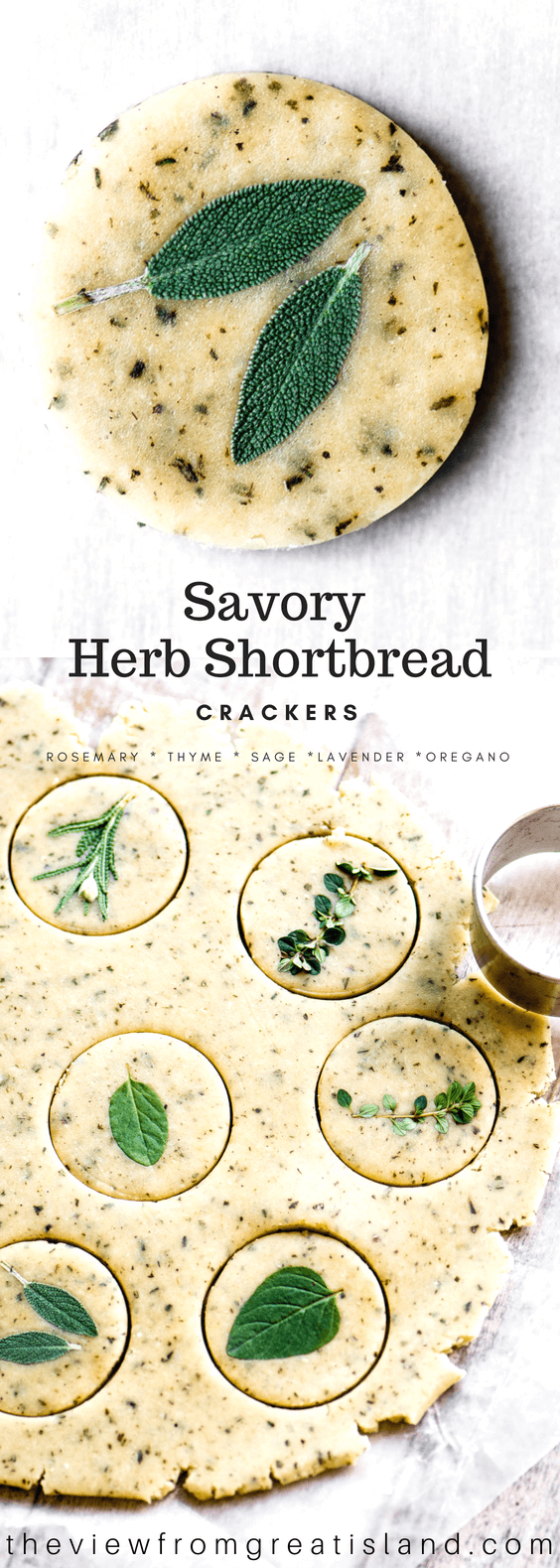 savory herb shortbread pin