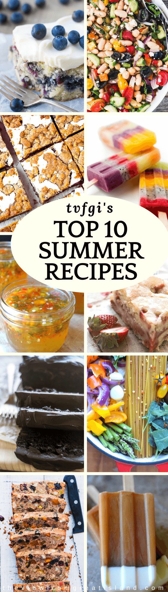 I've gathered together tvfgi's 10 most popular summer recipes to help you out a little. From decadent chocolate zucchini bread to my super healthy bean salad, I've got yourTvfgi's top 10 summer recipes, from decadent chocolate zucchini bread to a super healthy bean salad ~ #roundup #summerrecipes #summer #recipes #tvfgi #popsicles #s'mores #onepotpasta #zucchinicake #icedcoffeepopsicles #beansalad #hotpepperjelly #fro