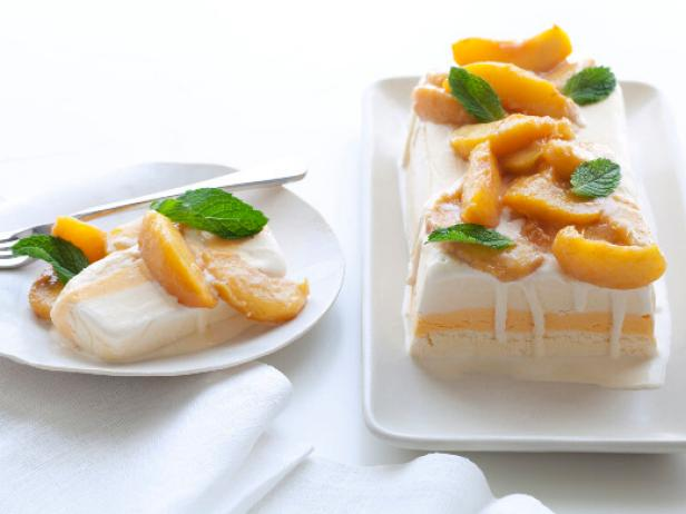 HOW TO MAKE AN ICE CREAM TERRINE ~ peach terrine