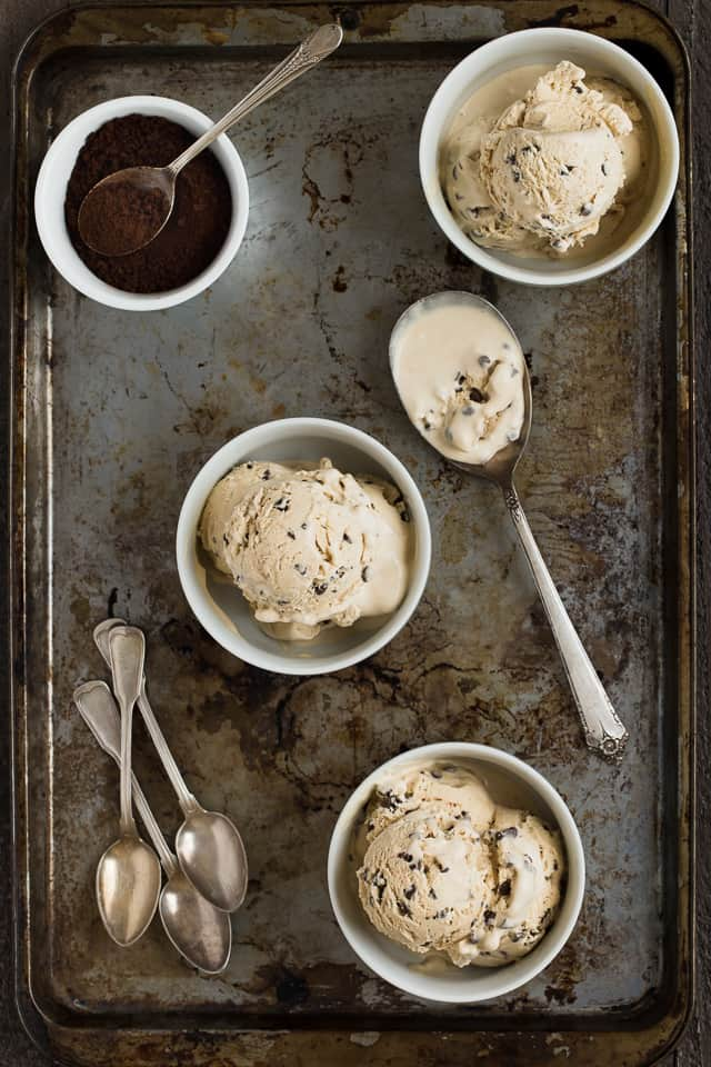 No Churn Coffee Crunch Ice Cream