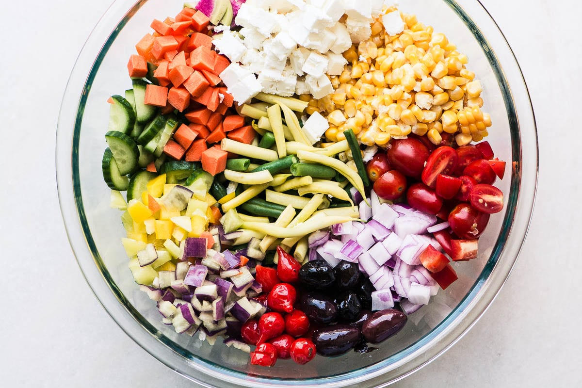 Farmers Market Vegetable Salad