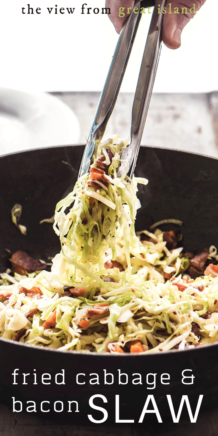 Fried Cabbage and Bacon Slaw pin.