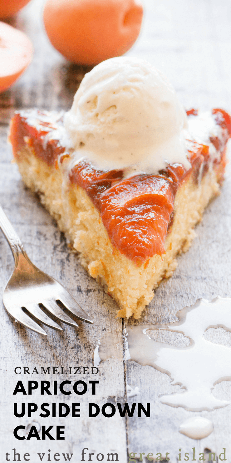 Caramelized Apricot Upside Down Cake pin
