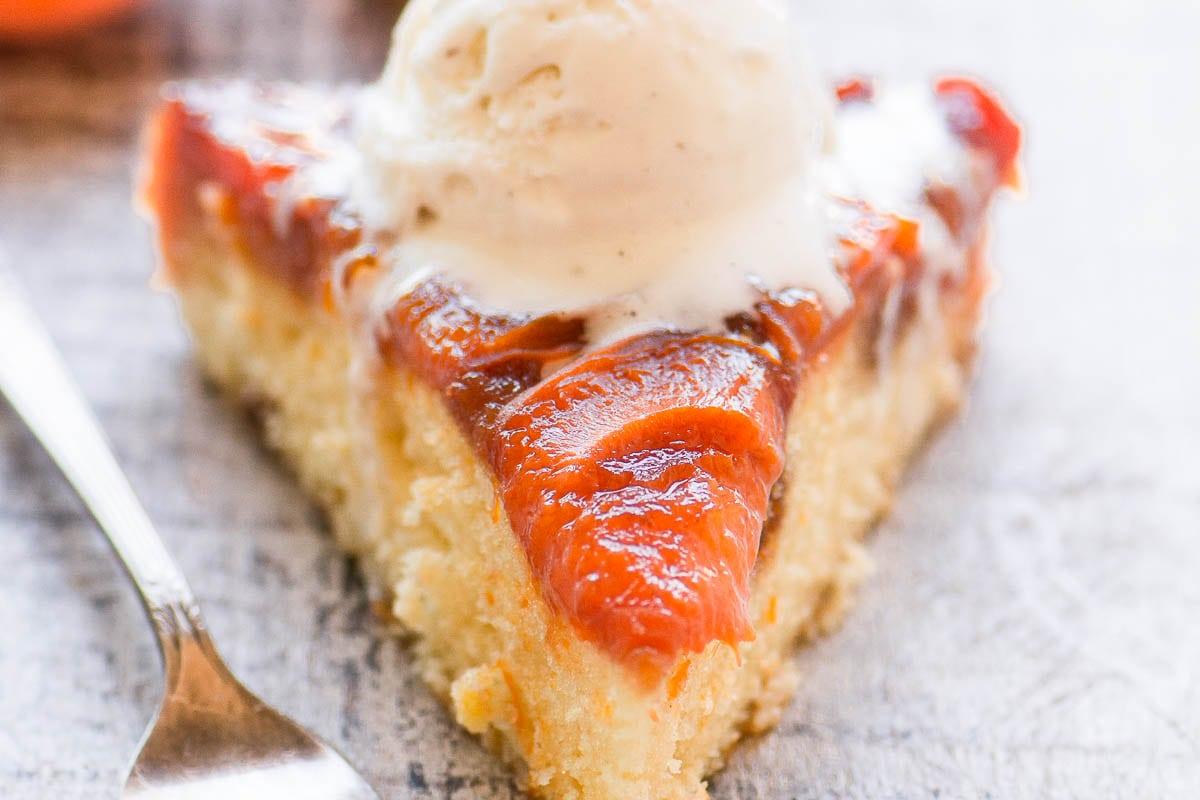 Caramelized Apricot Upside Down Cake