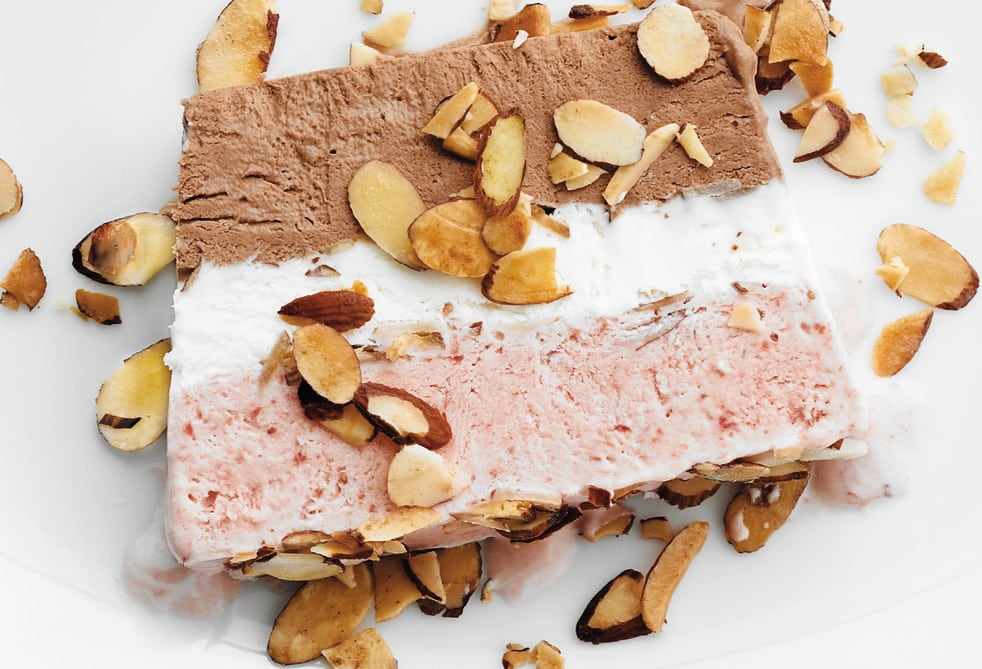HOW TO MAKE AN ICE CREAM TERRINE ~ Neapolitan terrine