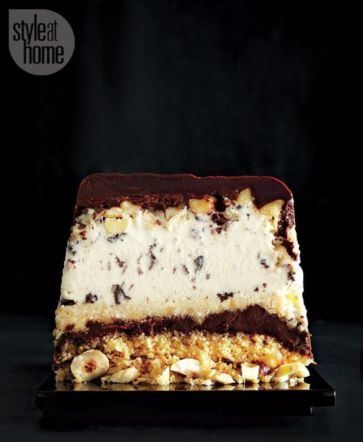 HOW TO MAKE AN ICE CREAM TERRINE ~ hazelnut chocolate terrine