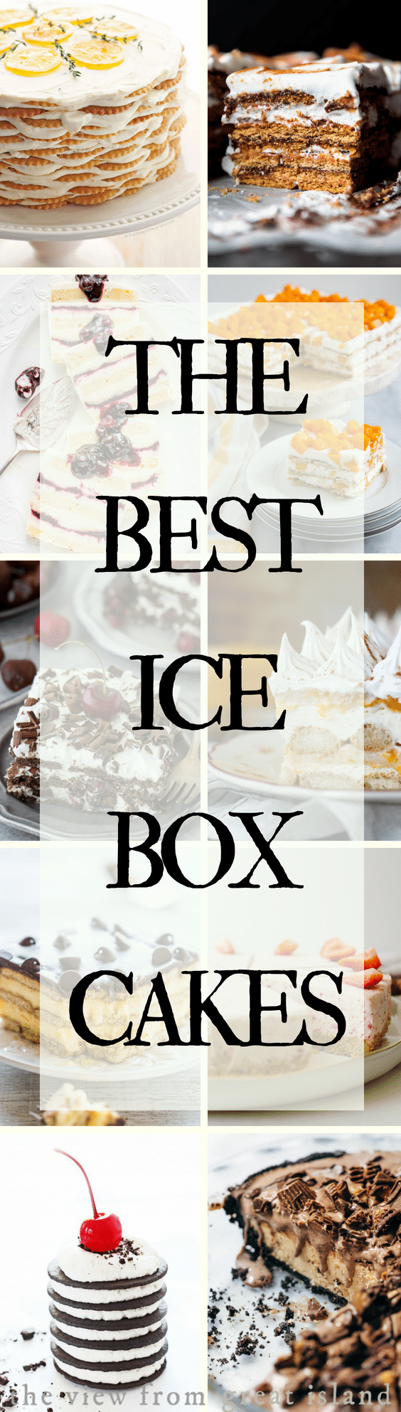 Icebox Cake Recipes for the dog days of summer...#cakes #icecream #frozen #nobake #pie #dessert #summerdessert #tiramisu #lemon #chocolate #strawberry #roundup #peanutbutter #grahamcracker #famouswafers