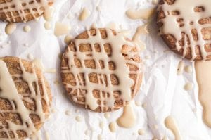 Honey Spice Cookies with glaze