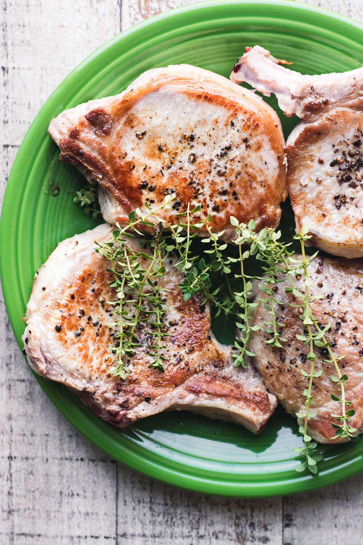 pork chops on a plate, for Instant Pot Pork Chops with creamy mustard sauce