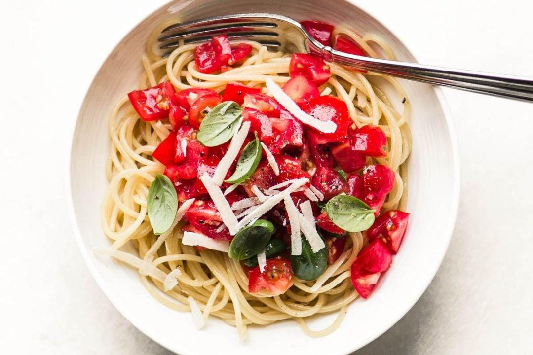 A bowl of pasta alla checca