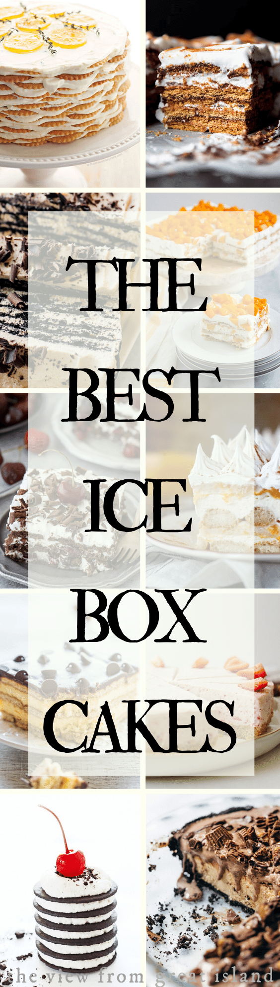 Best ice box cakes pin
