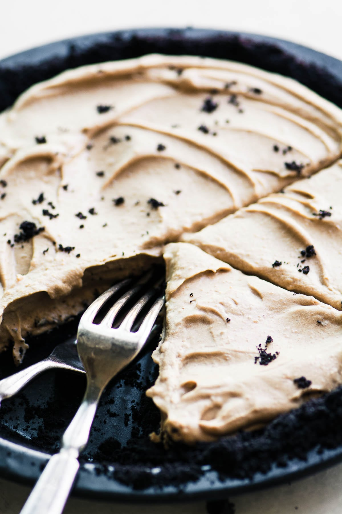 Cold Brew Icebox Pie with forks