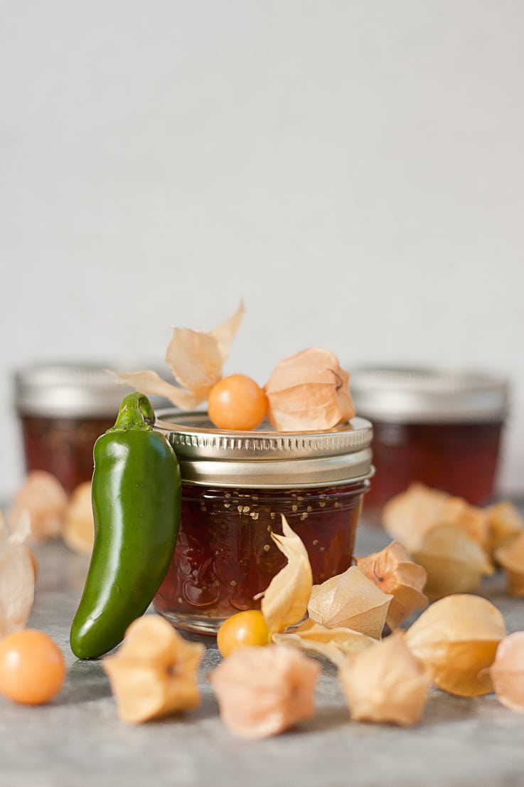 Ground cherry hot pepper jelly