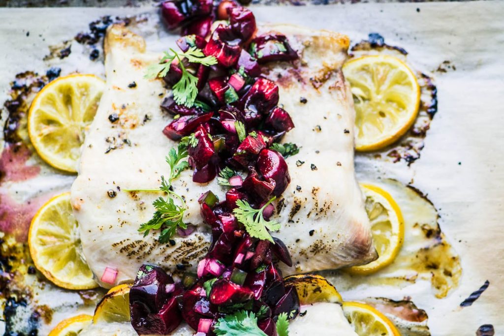 whitefish with cherry salsa