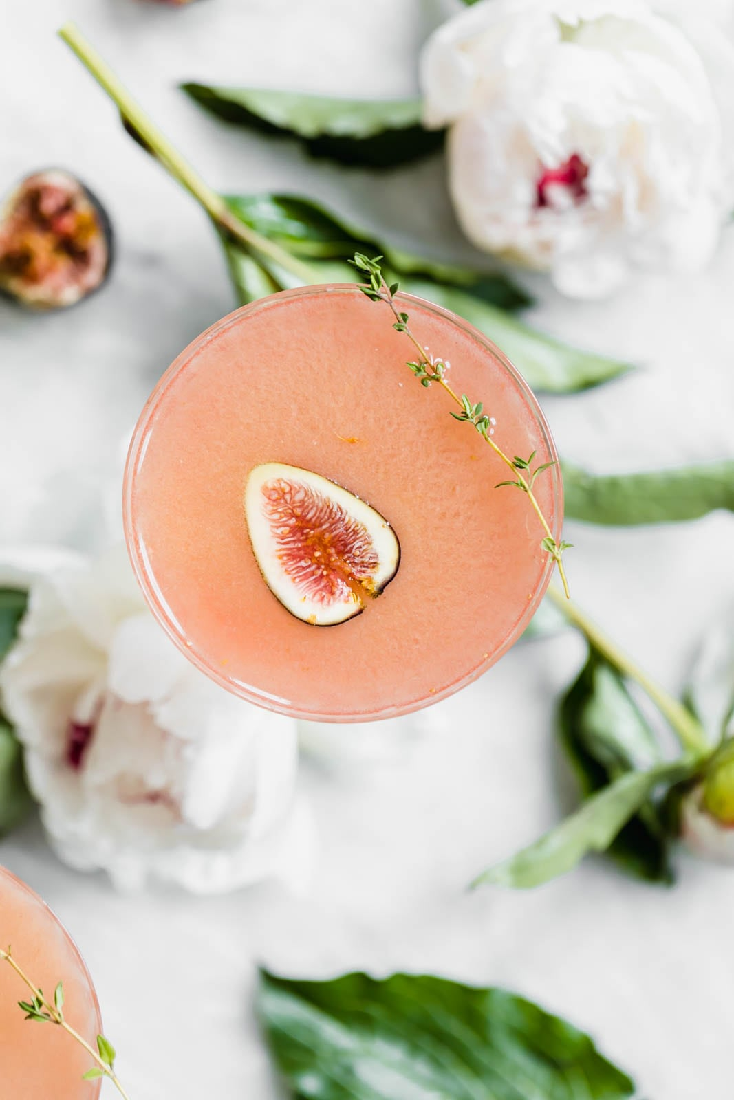 Fig and thyme cocktail