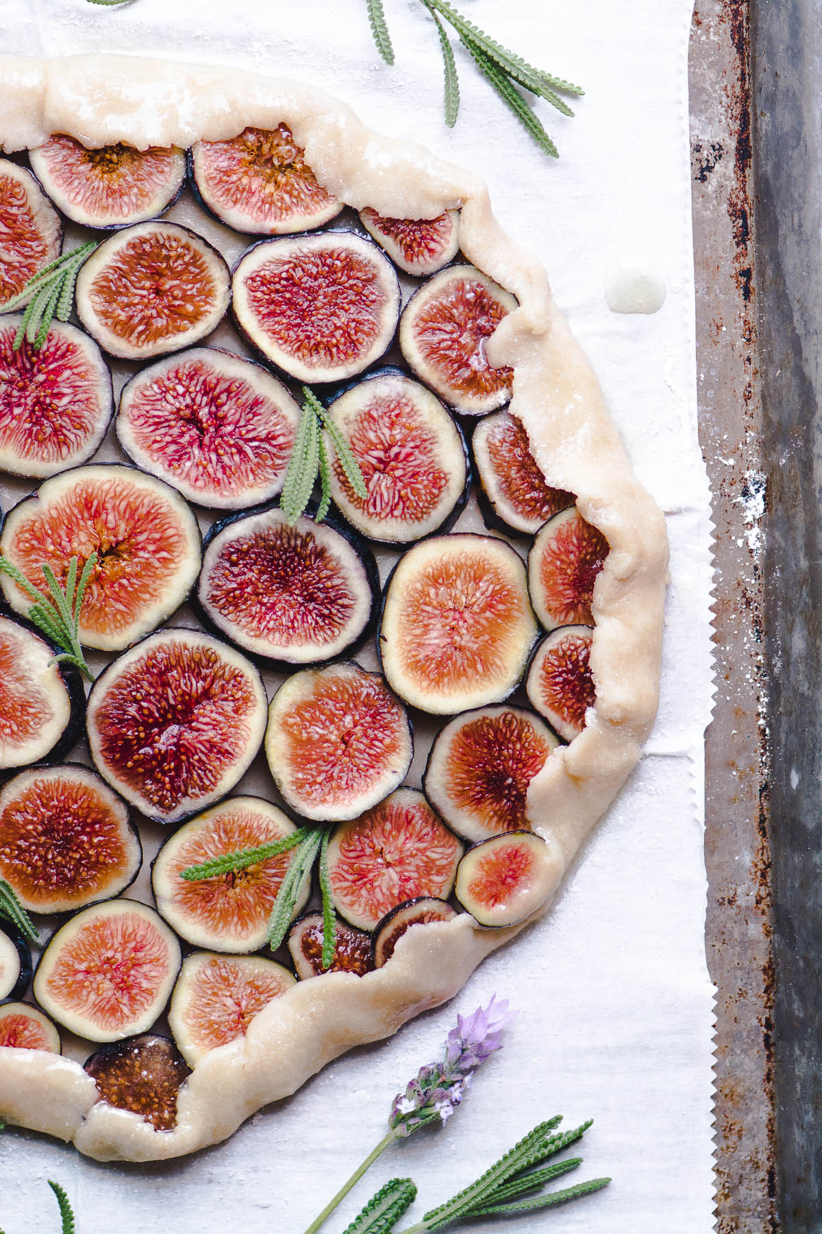 What to Eat Now: Figs | Fig tart with lavender honey