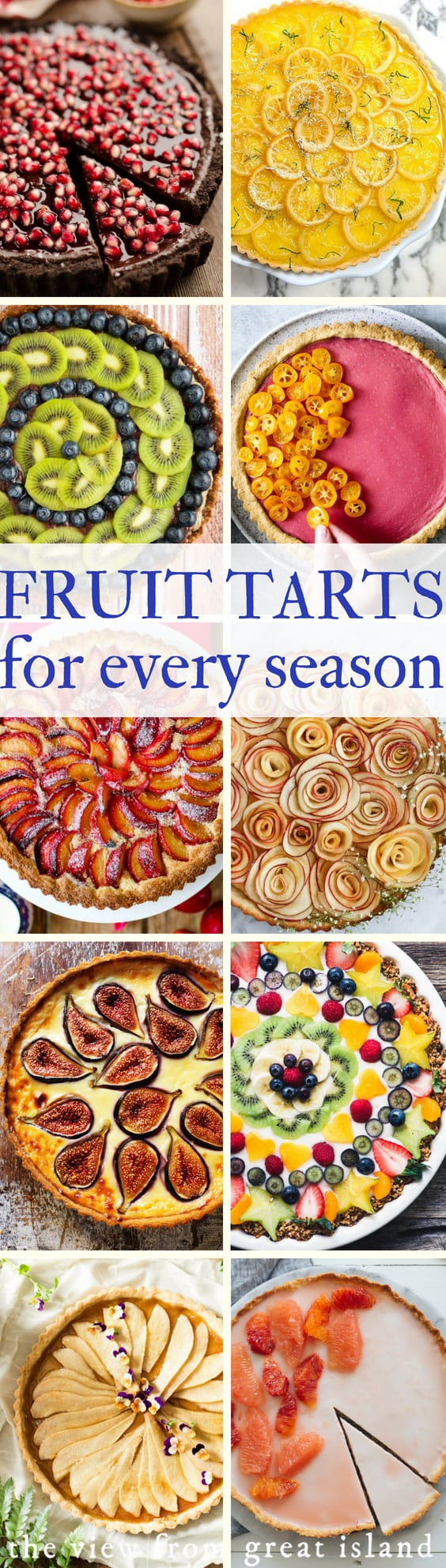 A Year of Fruit Tarts ~ 12 gorgeous recipes pin