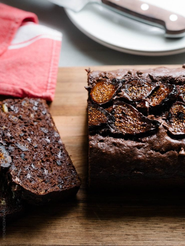 What to Eat Now: Figs ~ Chocolate Banana Fig Bread