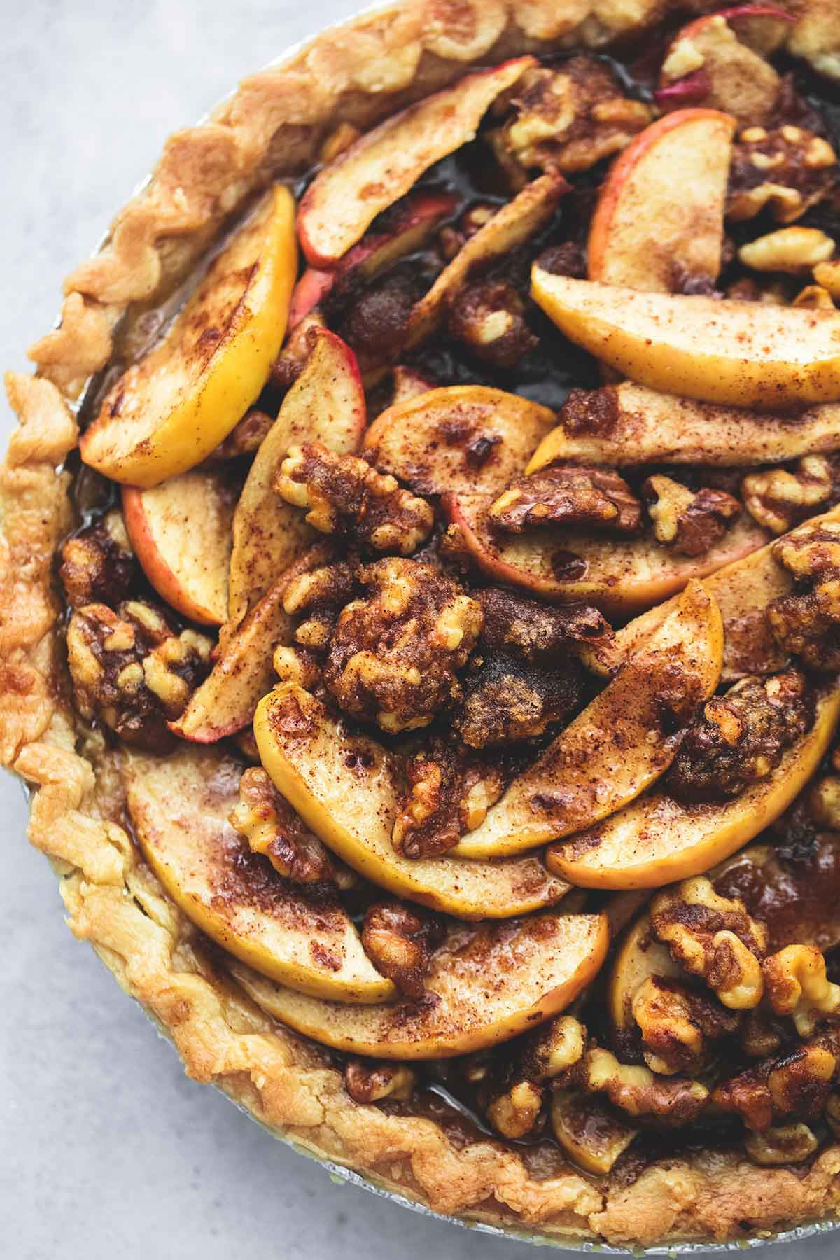 Brown Sugar Walnut Apple Pie
