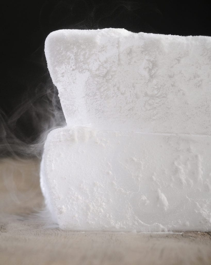 Dry ice for smokey Halloween Cocktails
