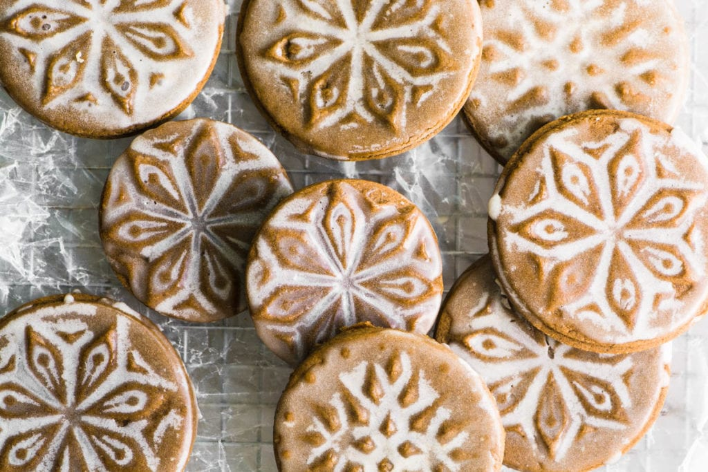 Soft Glazed Gingerbread Cookies