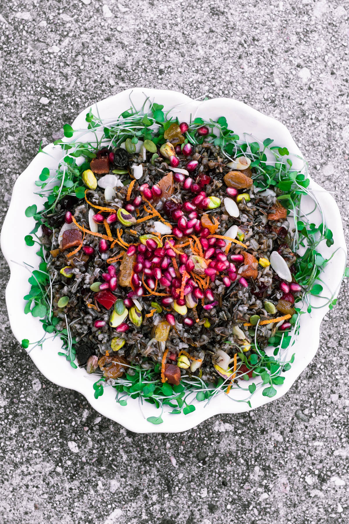 Jeweled Wild Rice in a white bowl