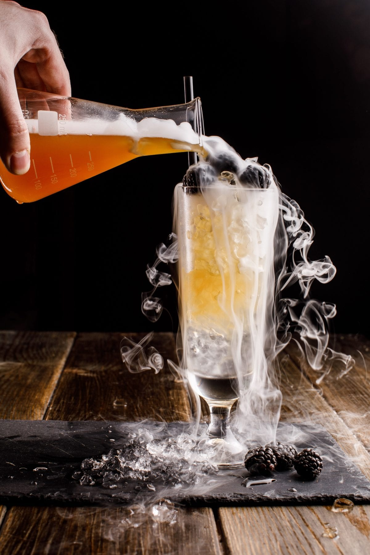 Making a Smoking Cocktail with Dry Ice