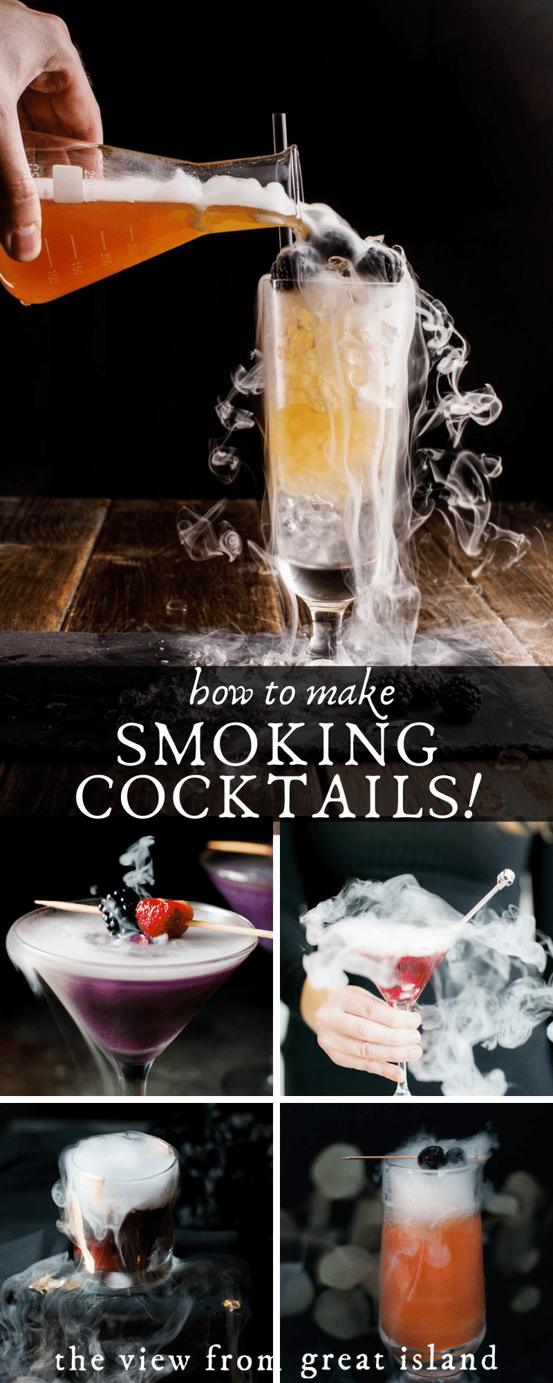 smoking cocktails pin