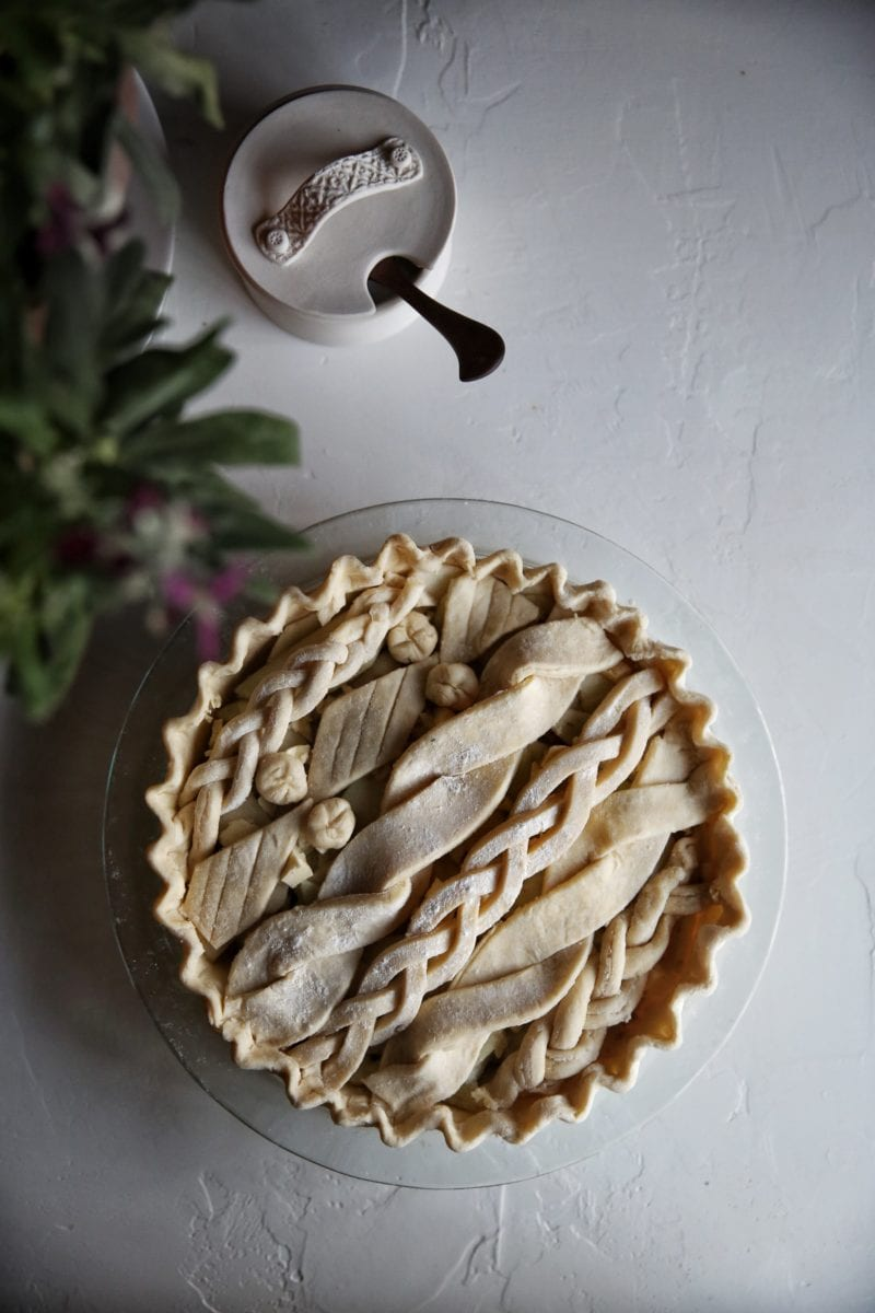Apple Cardamom Cable Knit Pie ~ Judy Kim
