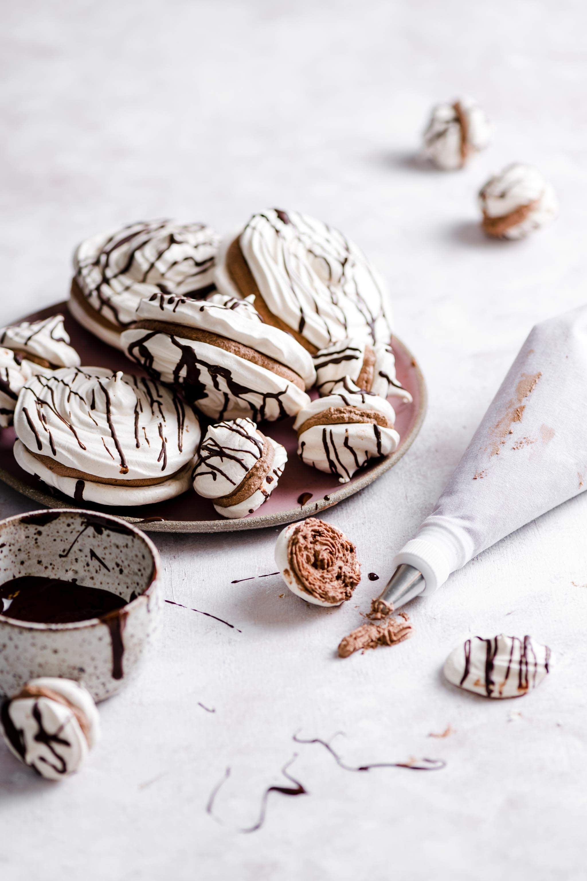 Chocolate Meringue Cookies ~ 12 Days of Holiday Meringues